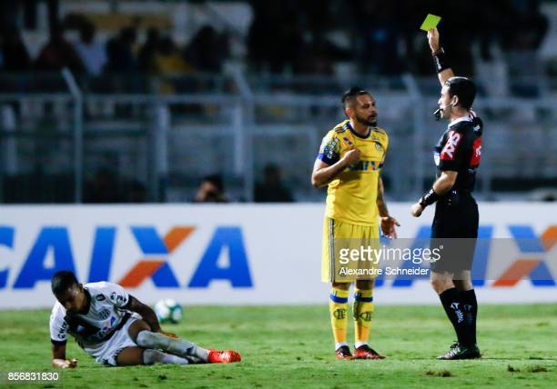 Pablo Escobar of Ponte Preta and China of Flamengo in action during the match between Ponte Preta and Flamengo for the Brasileirao Series A 2017 at...