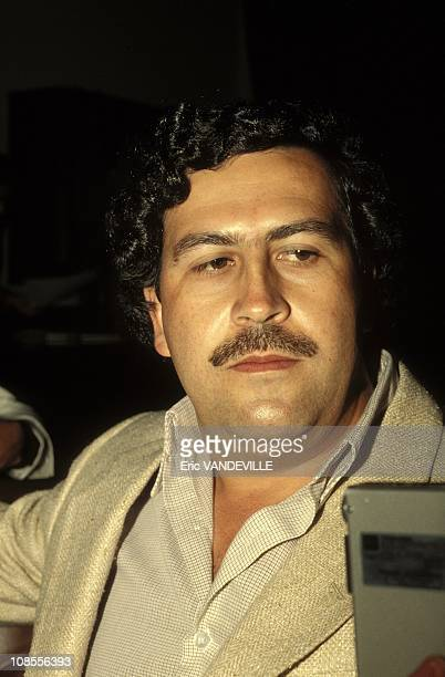 Pablo Escobar the godfather of the Medellin Cartel in Colombia in February 1988