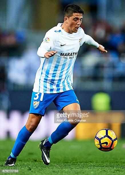 Pablo Fornals of Malaga CF in action during La Liga match between Malaga CF and Granada CF at La Rosaleda Stadium December 9 2016 in Malaga Spain