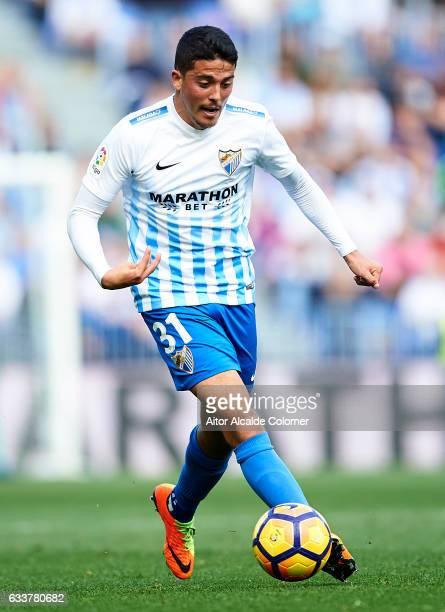 Pablo Fornals of Malaga CF in action during La Liga match between Malaga CF and RCD Espanyol at La Rosaleda Stadium February 04 2017 in Malaga Spain