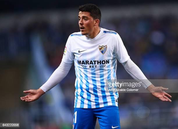 Pablo Fornals of Malaga CF reacts during La Liga match between Malaga CF and UD Las Palmas at La Rosaleda Stadium February 20 2017 in Malaga Spain
