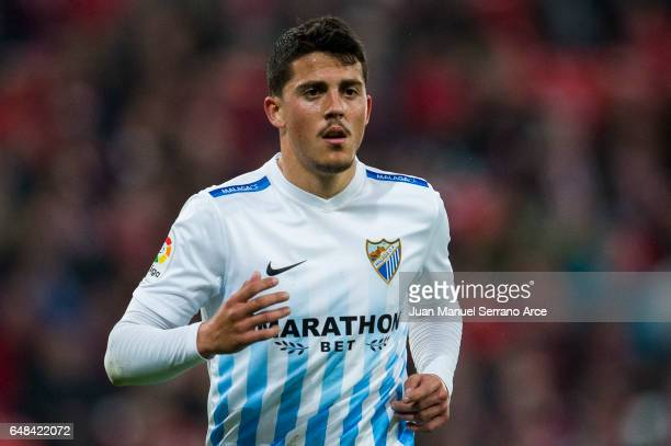 Pablo Fornals of Malaga CF reacts during the La Liga match between Athletic Club Bilbao and Malaga CF at San Mames Stadium on March 5 2017 in Bilbao...