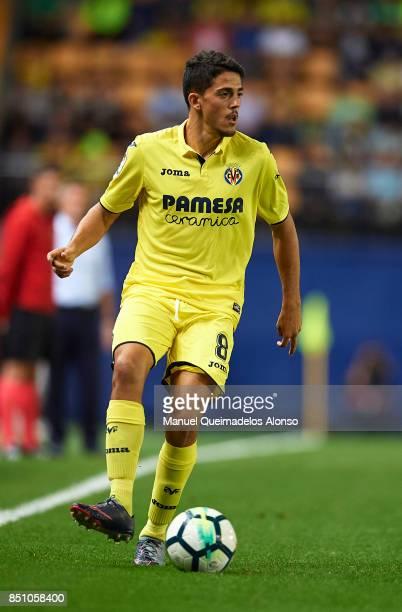 Pablo Fornals of Villarreal in action during the La Liga match between Villarreal and Espanyol at Estadio De La Ceramica on September 21 2017 in...