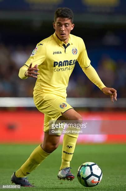 Pablo Fornals of Villarreal in action during the La Liga match between Villarreal CF and Real Betis at Estadio de la Ceramica on September 10 2017 in...