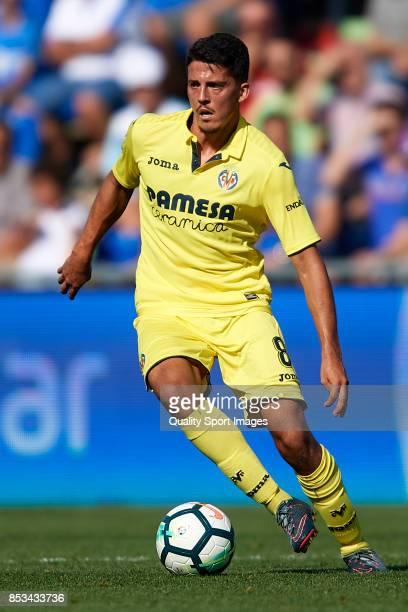 Pablo Fornals of Villarreal runs with the ball during the La Liga match between Getafe and Villarreal at Coliseum Alfonso Perez on September 24 2017...