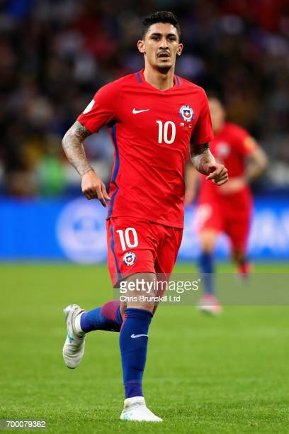 Pablo Hernandez of Chile in action during the FIFA Confederations Cup Russia 2017 Group B match between Germany and Chile at Kazan Arena on June 22...