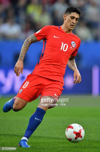 Pablo Hernandez of Chile in action during the FIFA Confederations Cup Russia 2017 Final match between Chile and Germany at Saint Petersburg Stadium...