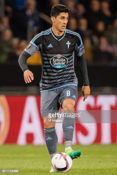 Pablo Hernandez of RC Celta de Vigoduring the UEFA Europa League quarter final match between KRC Genk and Celta de Vigo on April 20 2017 at the...