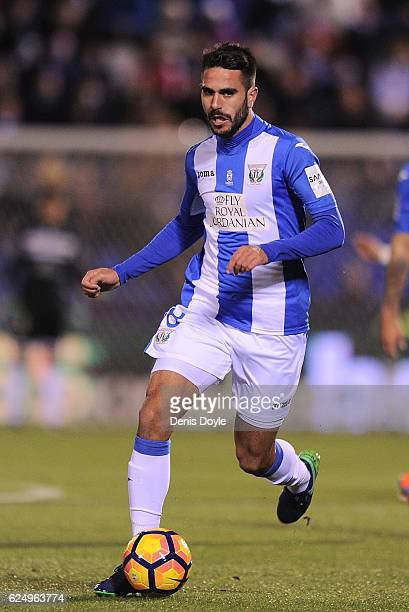 Pablo Insua of CD Leganes in action during the La Liga match between CD Leganes and CA Osasuna at Estadio Municipal de Butarque on November 21 2016...