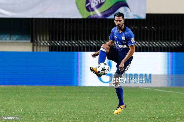 Pablo Insua of FC Schalke 04 drives the ball during the 2017 International soccer match between Schalke 04 and Besiktas at Zhuhai Sports Centre...