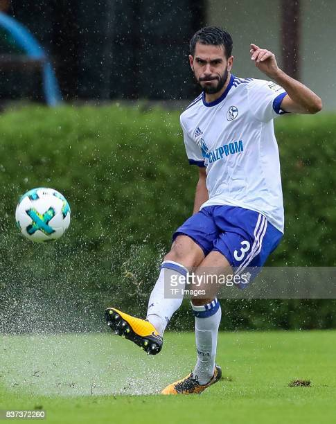 Pablo Insua of Schalke controls the ball during the preseason friendly match between FC Schalke 04 and Neftchi Baku on July 26 2017 in Neunkirchen...