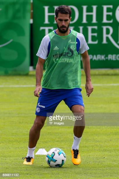 Pablo Insua of Schalke controls the ball during the Training Camp of FC Schalke 04 on July 27 2017 in Mittersill Austria
