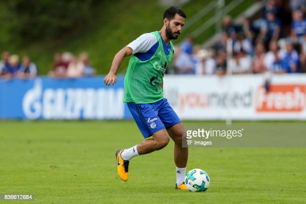 Pablo Insua of Schalke controls the ball during the Training Camp of FC Schalke 04 on July 30 2017 in Mittersill Austria