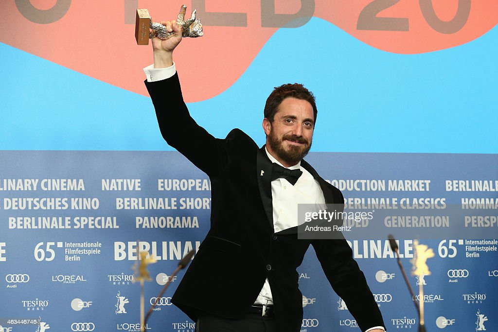 <a gi-track='captionPersonalityLinkClicked' href=/galleries/search?phrase=Pablo+Larrain&family=editorial&specificpeople=5351700 ng-click='$event.stopPropagation()'>Pablo Larrain</a> is seen with the silver bear for his movie 'El Club' (The Club) at the Award Winners press conference during the 65th Berlinale International Film Festival at Grand Hyatt Hotel on February 14, 2015 in Berlin, Germany.