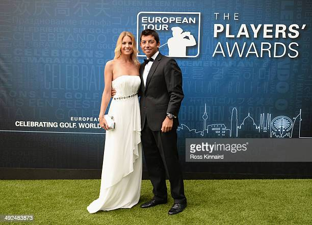 Pablo Larrazabal of Spain and Gala Ortin attend the European Tour Players' Awards ahead of the BMW PGA Championship at the Sofitel London Heathrow on...