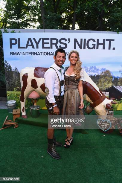 Pablo Larrazabal of Spain and his wife Gala Alten attend the BMW International Open Players Night at P1 Club on June 23 2017 in Munich Germany