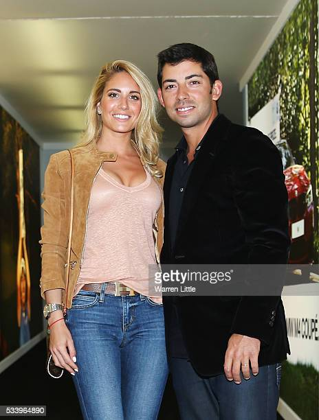 Pablo Larrazabal of Spain and wife Gaia arrive for the BMW PGA Championship Reception prior to the BMW PGA Championship at Wentworth on May 24 2016...