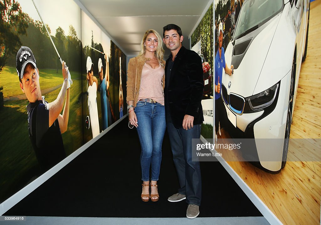 Pablo Larrazabal of Spain and wife Gaia arrive for the BMW PGA Championship Reception prior to the BMW PGA Championship at Wentworth on May 24, 2016 in Virginia Water, England.