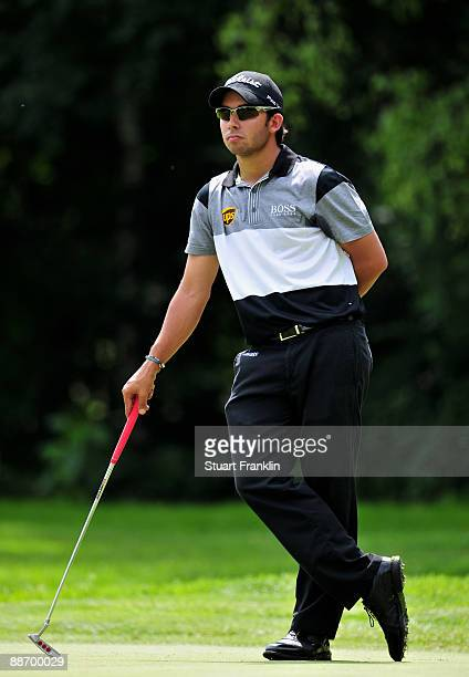 Pablo Larrazabal of Spain during the second round of The BMW International Open Golf at The Munich North Eichenried Golf Club on June 26 in Munich...