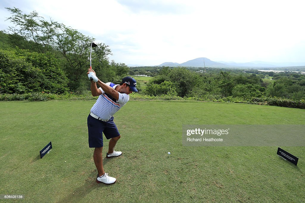 Pablo Larrazabal of Spain hits a tee shot during previews for the Alfred Dunhill Championship at Leopard Creek Country Golf Club on November 29, 2016 in Malelane, South Africa.
