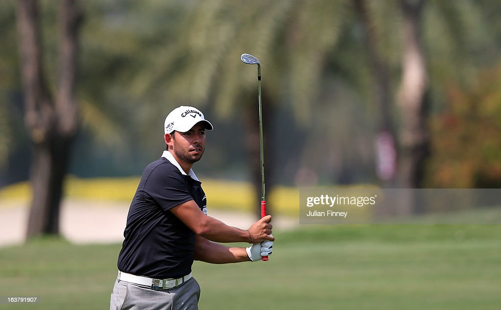 Pablo Larrazabal of Spain in action during day three of the Avantha Masters at Jaypee Greens Golf Club on March 16, 2013 in Delhi, India.