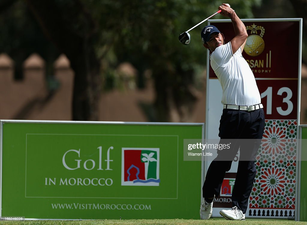 Pablo Larrazabal of Spain in action during the final round of the Trophee du Hassan II Golf at Golf du Palais Royal on March 31, 2013 in Agadir, Morocco.