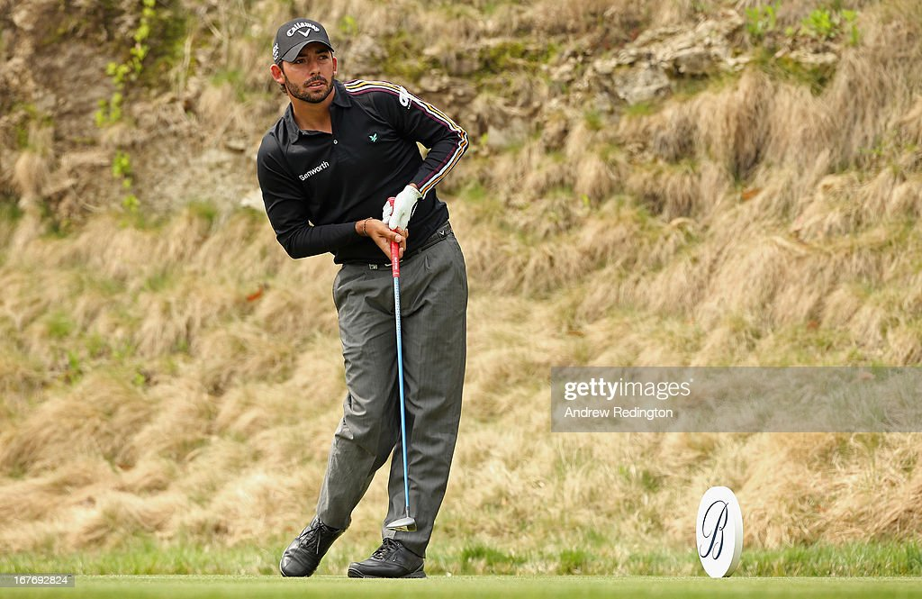 Pablo Larrazabal of Spain in action during the final round of the Ballantine's Championship at Blackstone Golf Club on April 28, 2013 in Icheon, South Korea.