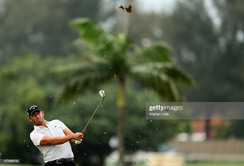 Pablo Larrazabal of Spain in action during the first round of The Nelson Mandela Championship presented by ISPS Handa at Royal Durban Golf Club on December 8, 2012 in Durban, South Africa.