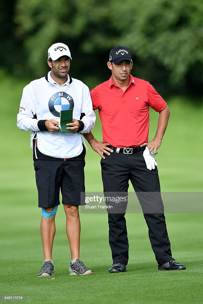 <a gi-track='captionPersonalityLinkClicked' href=/galleries/search?phrase=Pablo+Larrazabal&family=editorial&specificpeople=4022842 ng-click='$event.stopPropagation()'>Pablo Larrazabal</a> of Spain looks on during the rain delayed third round of the BMW International Open at Gut Larchenhof on June 26, 2016 in Cologne, Germany.