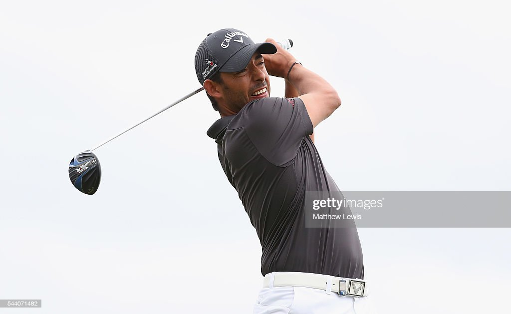 <a gi-track='captionPersonalityLinkClicked' href=/galleries/search?phrase=Pablo+Larrazabal&family=editorial&specificpeople=4022842 ng-click='$event.stopPropagation()'>Pablo Larrazabal</a> of Spain tees off during day two of the 100th Open de France at Le Golf National on July 1, 2016 in Paris, France.