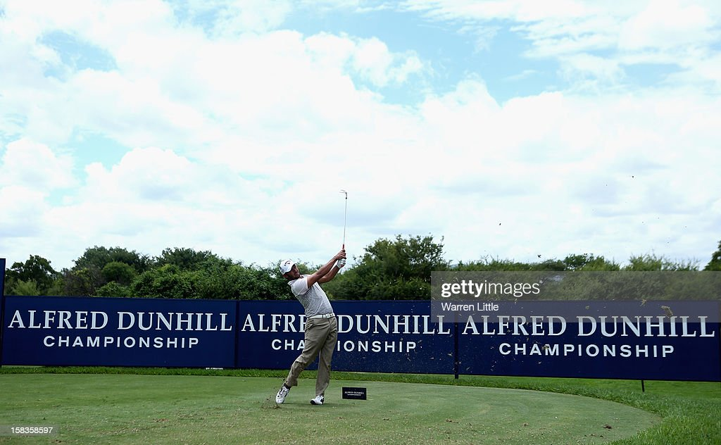 Pablo Larrazabal of Spain tees off on the fifth hole during the second round of the Alfred Dunhill Championship at Leopard Creek Country Golf Club on December 14, 2012 in Malelane, South Africa.