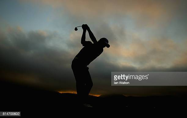 Pablo Larrazabal of Spain warms up during the second round of the 2016 True Thailand Classic at Black Mountain Golf Club on March 11 2016 in Hua Hin...