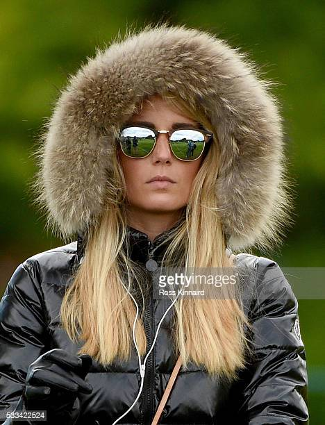 Pablo Larrazabal of Spain's wife Gala Ortin watching the golf during the final round of The Dubai Duty Free Irish Open hosted by the Rory Foundation...