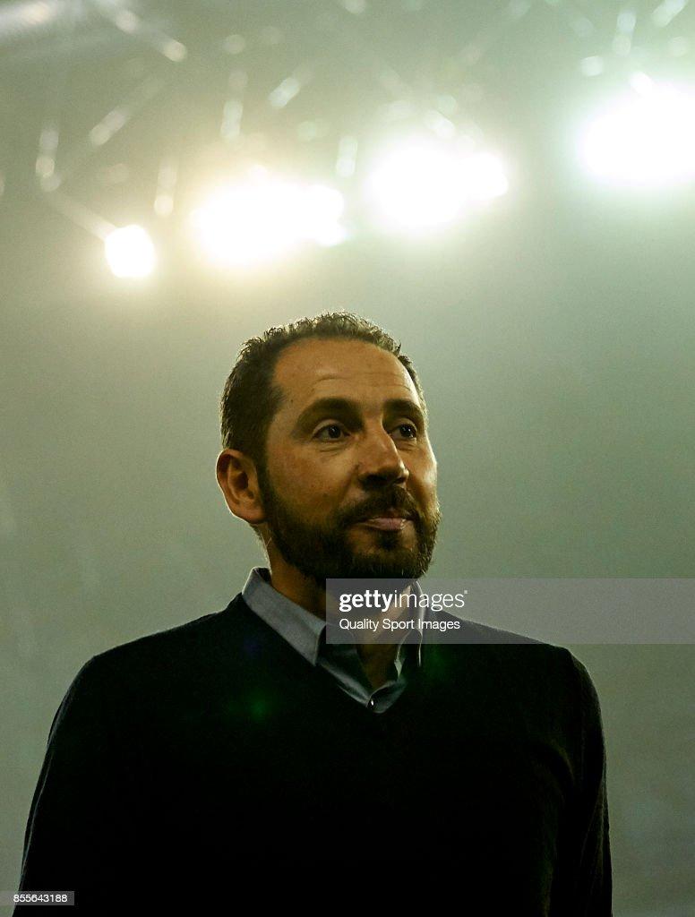 Pablo Machin the manager of Girona FC prior to the La Liga match between Celta de Vigo and Girona at Balaidos Stadium on September 29, 2017 in Vigo, Spain.