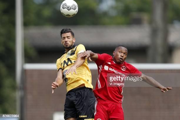 Pablo Mari Villar of NAC Breda Arsenio Valpoort of Almere City before the UEFA Europa League final match between Ajax Amsterdam and Manchester United...