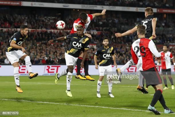 Pablo Mari Villar of NAC Breda Thierry Ambrose of NAC Breda Eric Botteghin of Feyenoord Mounir El Allouchi of NAC Breda Michiel Kramer of Feyenoord...