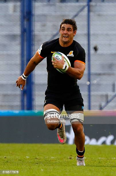 Pablo Matera of Jaguares runs with the ball during the 2016 Super Rugby match between Jaguares and Chiefs at Jose Amalfitani Stadium on March 19 2016...