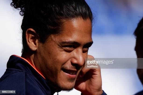 Pablo Mauricio Lemos defender of Union Deportiva Las Palmas during the La Liga Santander match between Deportivo de La Coruña and Union Deportiva Las...