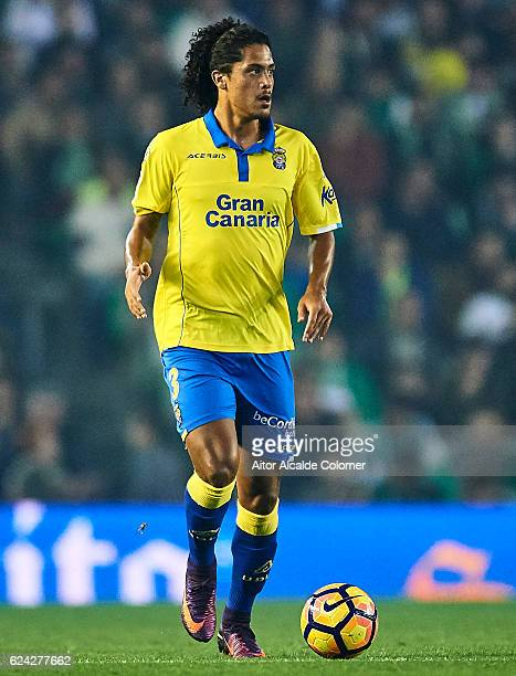 Pablo Mauricio Lemos of UD Las Palmas in action during the match between Real Betis Balompie vs UD Las Palmas as part of La Liga at Benito Villamarin...