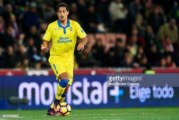Pablo Mauricio Lemos of Union Deportiva Las Palmas in action during the La Liga match between Granada CF vs UD Las Palmas at Estadio Nuevo Los...