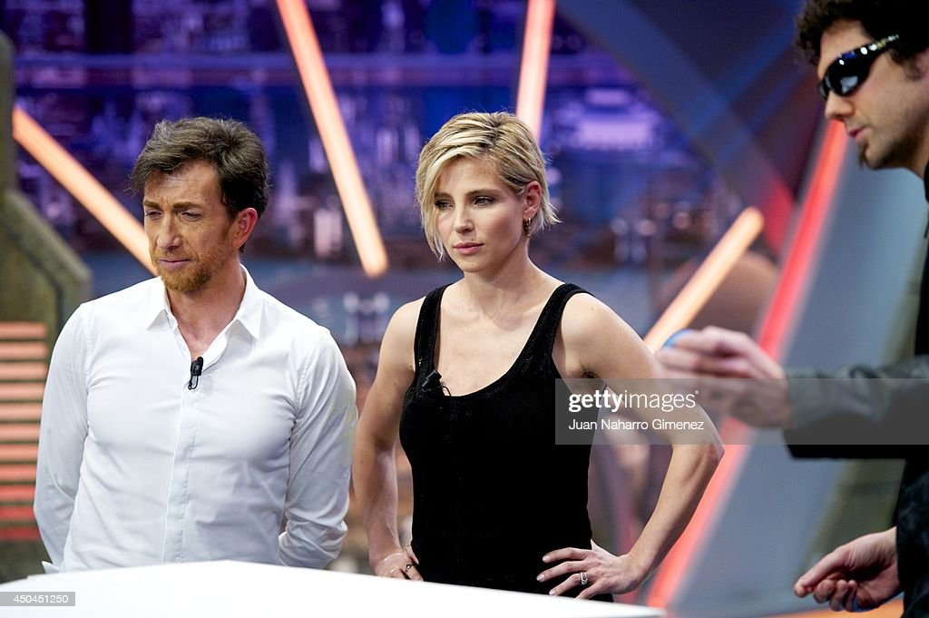 Pablo Motos (L) and Elsa Pataky attend 'El Hormiguero' Tv show at Vertice Studio on June 11, 2014 in Madrid, Spain.
