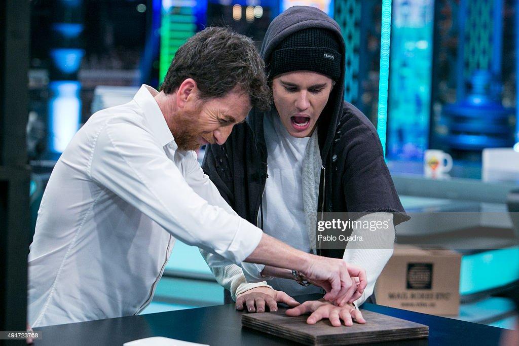 Justin Bieber Attends 'El Hormiguero' Tv Show