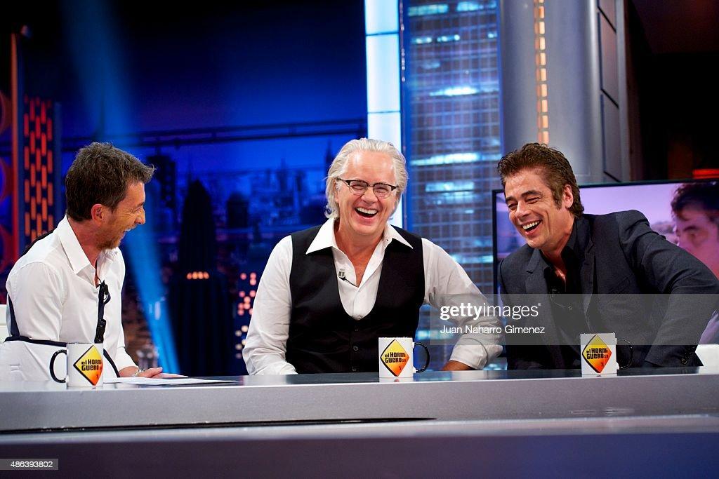 Tim Robbins and Benicio del Toro Attend 'El Hormiguero' Tv Show