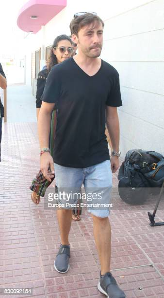 Pablo Nieto attends the funeral chapel for his father former motorcycling world champion Angel Nieto at Tanatorio de Ibiza on August 4 2017 in Ibiza...