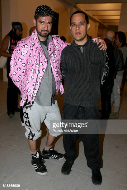 Pablo Olea and Marcell Rocha attend 'The Transformation of ENRIQUE MIRON as El Diablo' by PAUL ROWLAND at 548 W 22nd St on April 29 2010 in New York