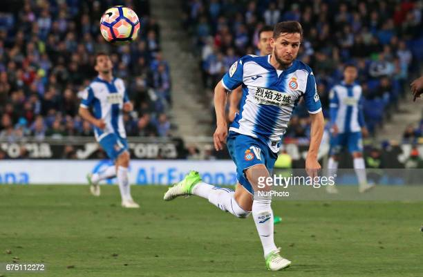 Pablo Piatti during the match between RCD Espanyol and FC Barcelona on April 29 2017