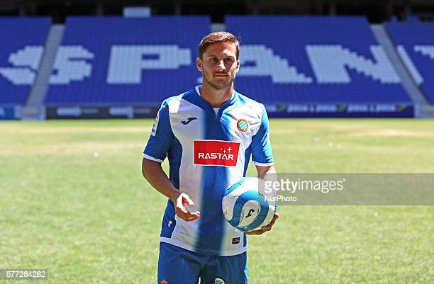 Pablo Piatti during the presentation for the RCD Espanyol held in the CornellaEl Prat stadium on 18 july 2016