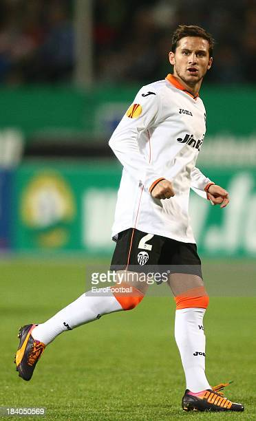 Pablo Piatti of Valencia CF in action during the UEFA Europa League group stage match between FC Kuban Krasnodar and Valencia CF held on October 3...