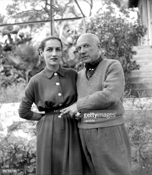 Pablo Picasso and Francoise Gillot by 1952 LIP1069007