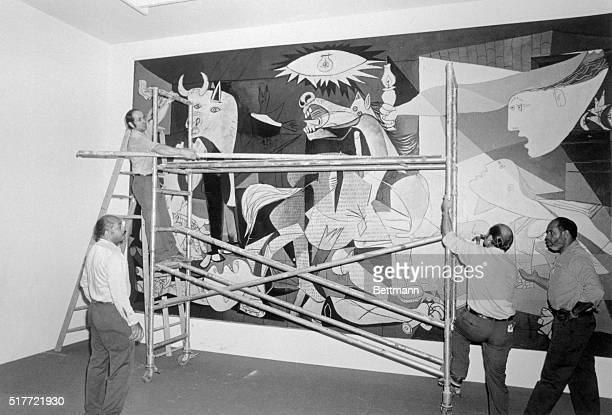 Pablo Picasso's Guernica is being taken down 9/8 from the Museum of Modern Art to be shipped to Spain The masterpiece arrived in Spain 9/10 after a...